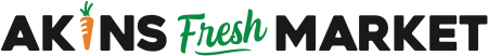 A theme logo of Akins Foods